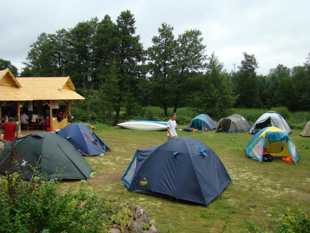 Pole namiotowe Głeboki Bród nad Czarną Hańczą